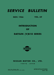 Service Bulletin - Vol. 69 - Introduction of Datsun (V)B10 Series