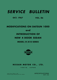 Service Bulletin - Vol. 86 - Modifications and New 4 Door Sedan